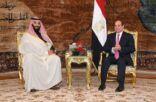 """السیسي وولي العھد السعودي یعلنان """"التوحد كجبھة واحدة"""" من أجل التصدي للتدخلات الإقلیمیة والدول الداعمة للإرھاب"""
