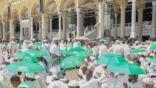 توفير (100) ألف مظلة واقية من الشمس لضيوف الرحمن
